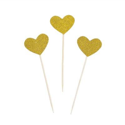cupcake-dekorationer-hjarta-guld-glitter-cake-picks-toppers