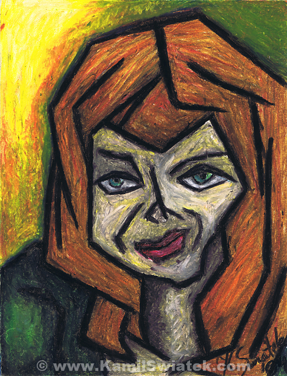 """""""The Look"""", Oil Pastel on Paper, 10.58"""" x 13.78"""""""