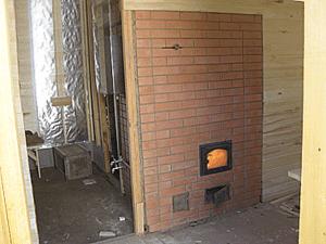 Ang brick oven para sa paliguan ay handa na