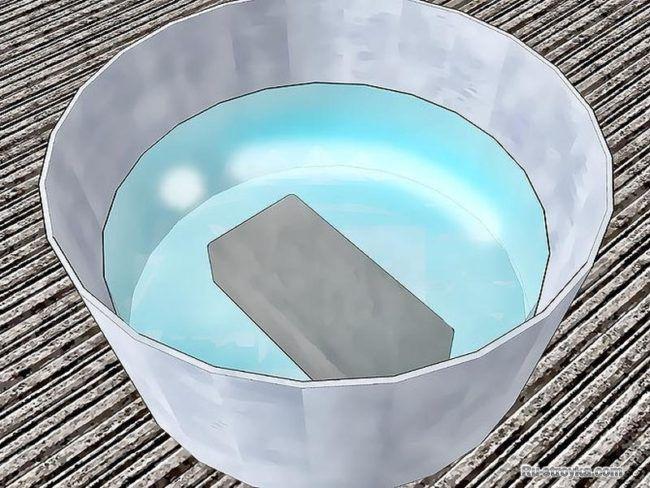 Rendam bata di dalam air