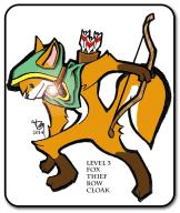 Level 3 Fox Thief Sticker, Level Up!, Pen & Ink + Photoshop, 2014