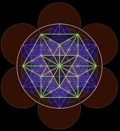 Vector Equilibrium found within Metatron's Cube as discovered by Nassim Haramein.