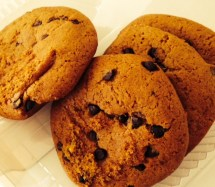 Pumpkin Chocolate Chip cookies, a seasonal fixture in the grocery store.