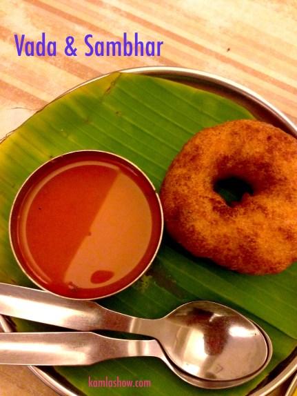 Vada and sambar