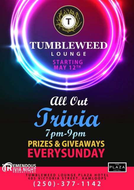 Sunday Night All Out Trivia