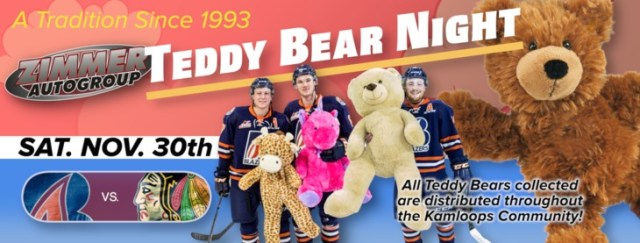 TWO WEEKEND HOME GAMES, INCLUDING TEDDY BEAR TOSS – Kamloops Blazers