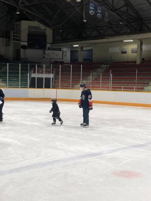 Our boys are having a great time at Peter Puck today!!! #futurestars #community …