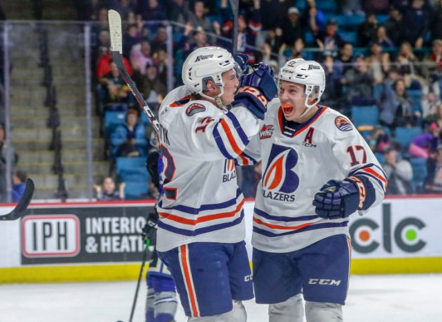 BLAZERS WIN WILD ONE, 7-6 IN OVERTIME OVER CALGARY – Kamloops Blazers