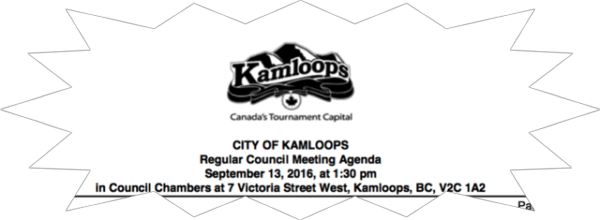 Quick updates from Kamloops City Council today….