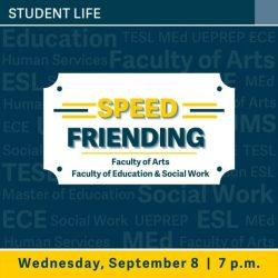 Speed Friending for Arts, Education and Social Work – TRU Newsroom