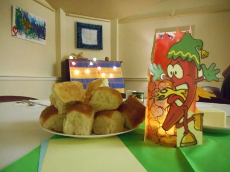 Freshly baked buns courtesy of Amy, Carolyn & Marg.