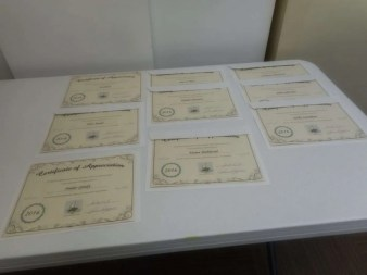 Some of the certificates.