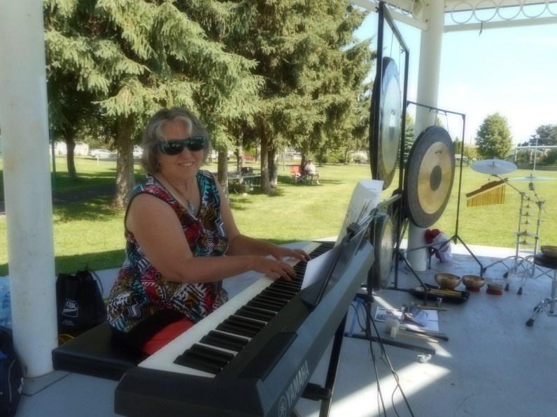 Linda provides music and music leadership.