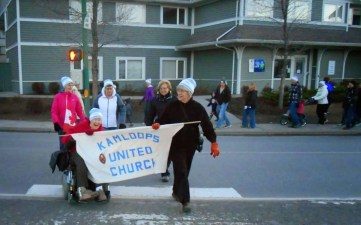 Hazel and Sharon leaving New Life Mission. We`re off!