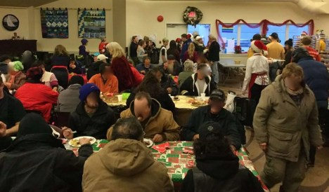 Many guests enjoy the classic Christmas dinner.