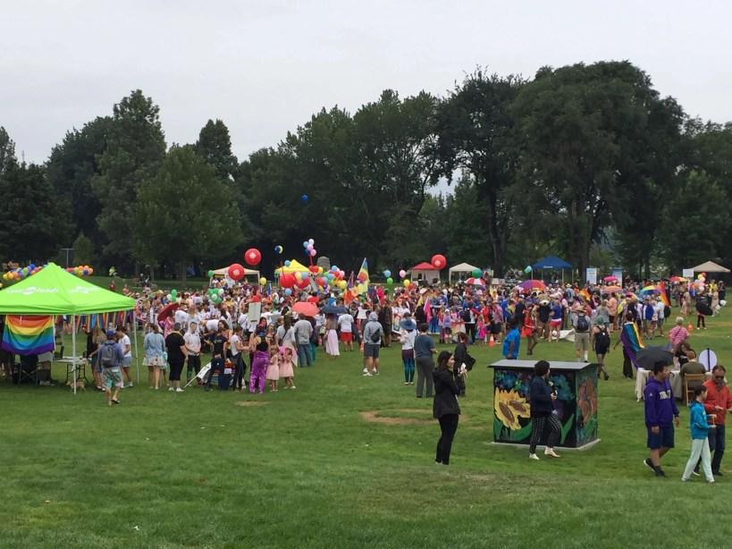 The parade assembles.
