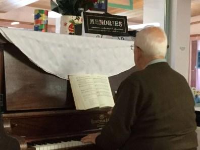 Gordon Britton on piano
