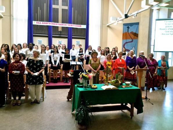 The choir from St. Ann's Academy
