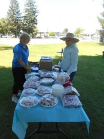 """St. George's setting up, """"treats & sweets"""""""