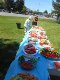 Picnic Time! Fruits and veggies in abundance.
