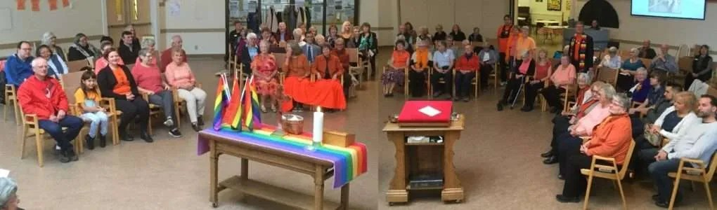 "Our ""Orange Shirt Day"" photo."