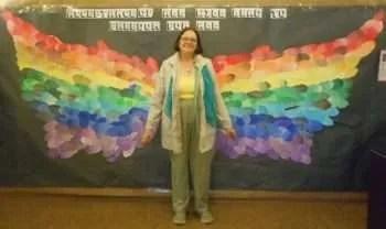 Rainbow wings.Diane