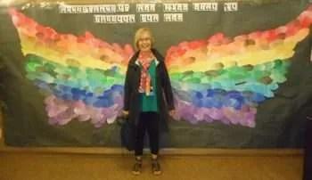Rainbow wings.Janeen