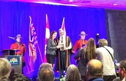 Kirstin McLaughlin with Mayor Ken Christian