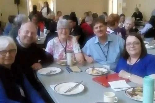 Donna, Patric, Dirk and Diane were delighted to share a meal with Rev. Michael Caveney, who begins in ministry with KUC in September 2019 (also in the photo).