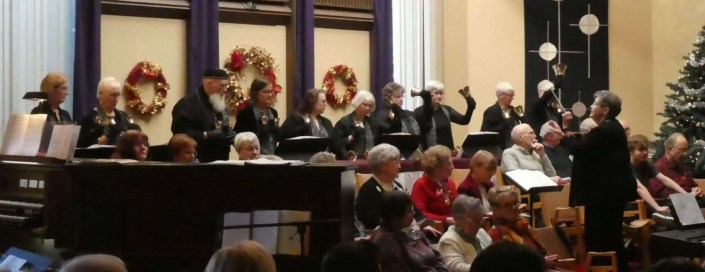 Harmony In Hand bell choir with Folk of Note choir.