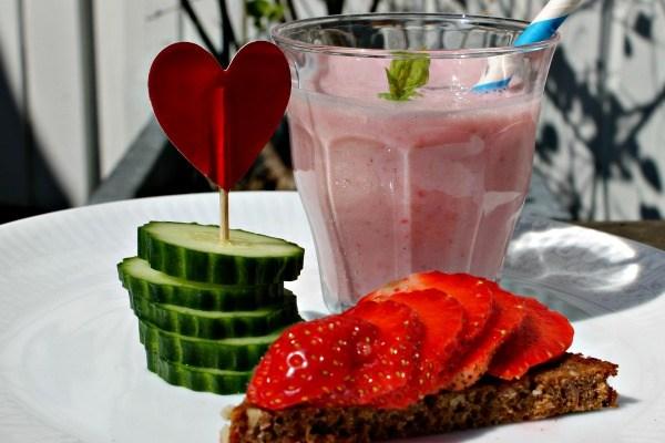 Jordbærsmoothie med tofu