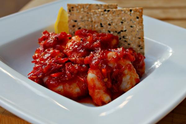 Rejer i chili og tomatmarmelade