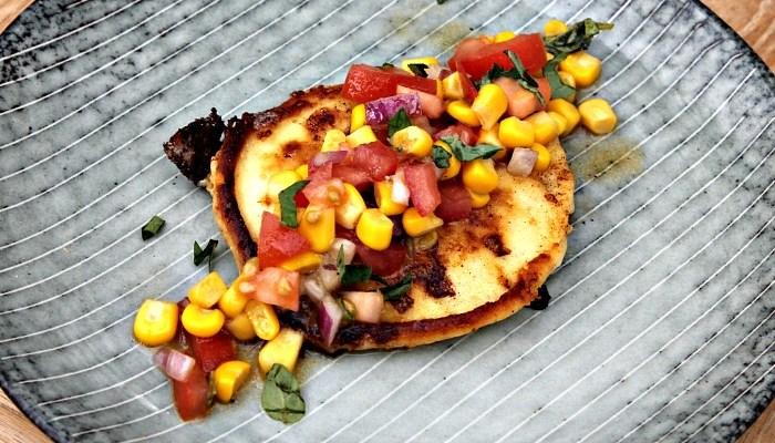 Pandekager med grøntsager samt salsa