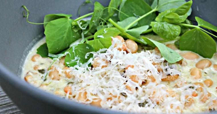 Bønneotto med svampe & spinat