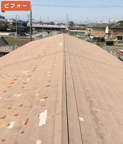 施工前(旧屋根材をはがした状態)