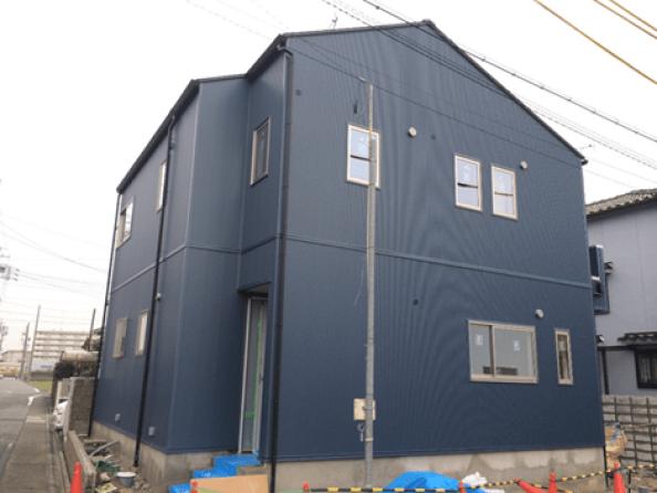 某住宅 新築工事 屋根・外壁(愛知県名古屋市中川区)
