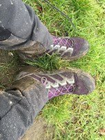 Modderige schoenen