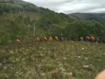 Veel backpackers op de West Highland Way