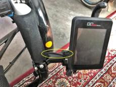 Draadje mooi weggewerkt op Dave's fiets
