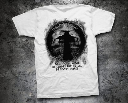 Kampfar - Trolldomssanger (white T-Shirt backside)   Official Kampfar Merchandise Webshop Webstore Onlineshop