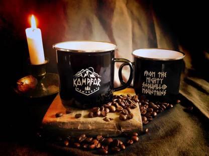 Kampfar - Hemsedal Noir (Emaille Tasse / enamel coffee cup)