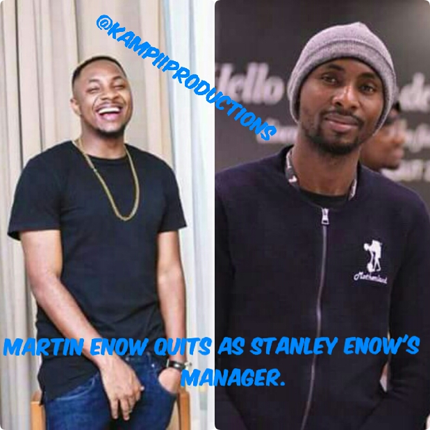 Martin Enow quits as Stanley Enow's Manager.