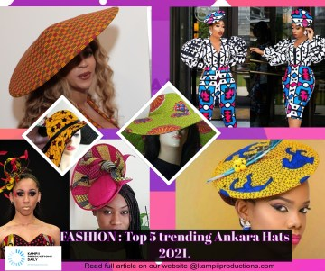 Top 5 trending Ankara Hats 2021.