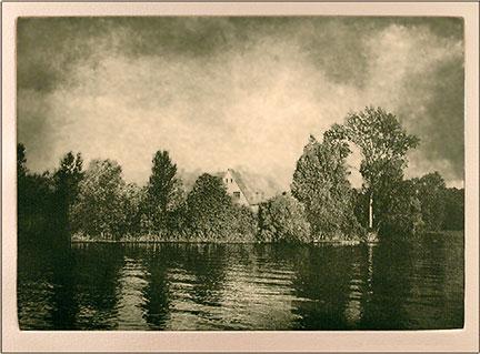 Les Andelys, photogravure etching