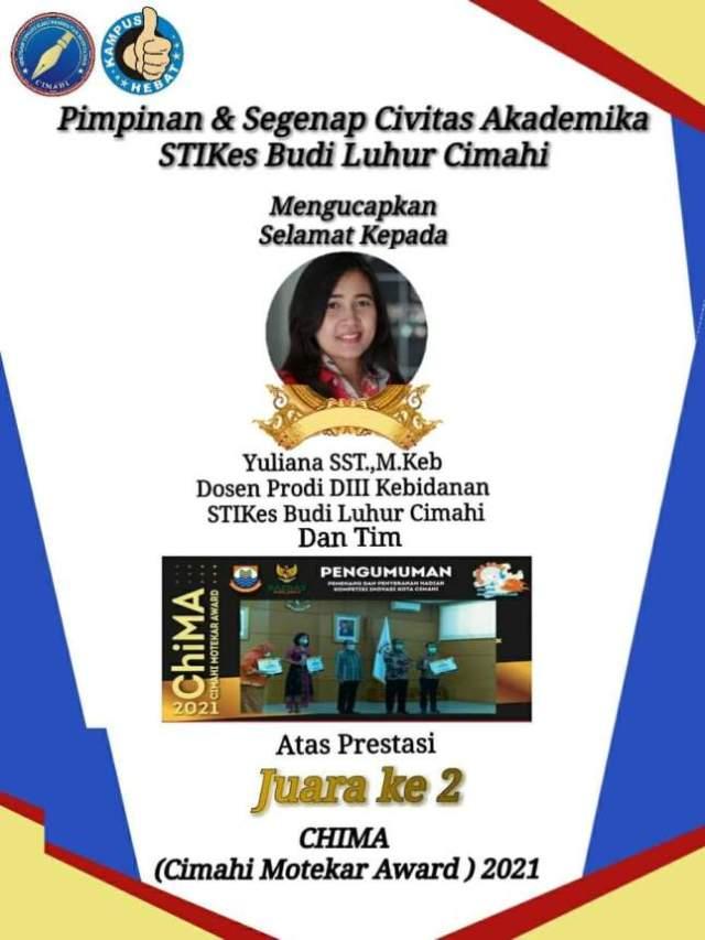 Dosen STIKES Budi Luhur Raih Motekar Award 2021