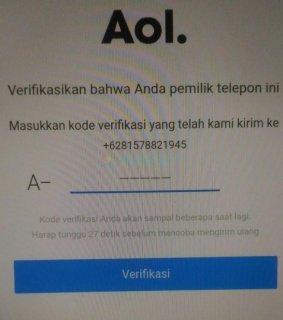 Cara membuat email AOL di Android