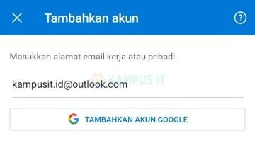 Cara membuat email Outlook di HP