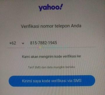 Cara membuat email Yahoo baru di HP Android