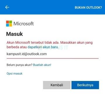 Membuat email Outlook di HP Android