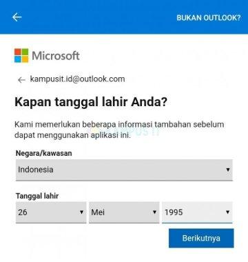 Tutorial membuat email Outlook di HP Android